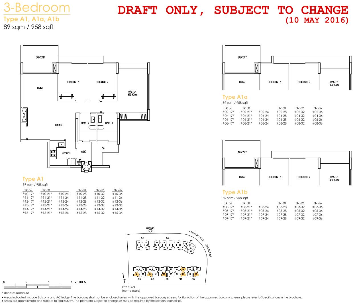 Treasure Crest Floor Plan 3 Bedroom