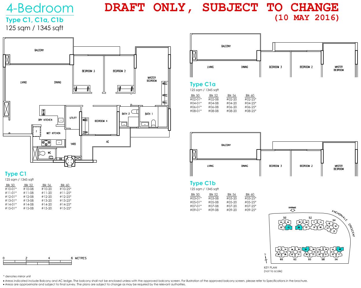 Treasure Crest Floor Plan 4 Bedroom